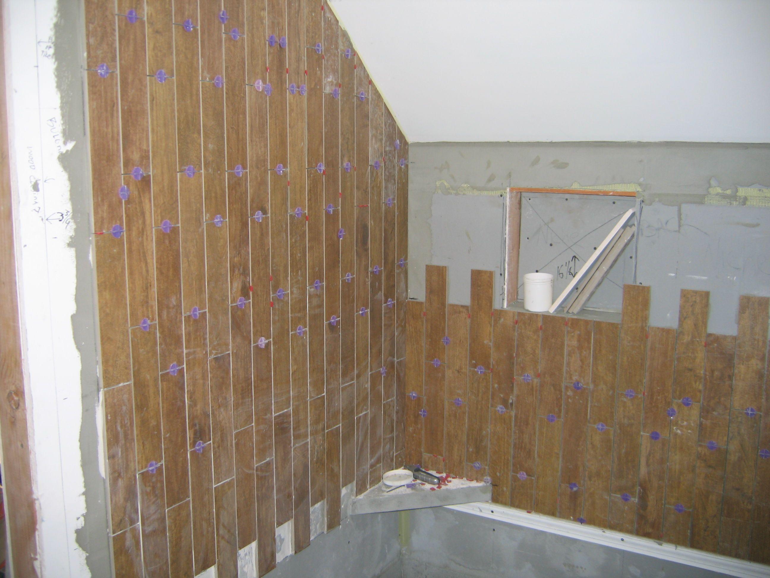 Porcelain Wood Tile Shower Walls With Images Wood Tile Shower