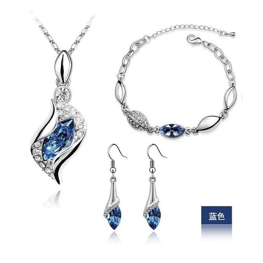 Elegant luxury austrian crystal drop jewelry set products