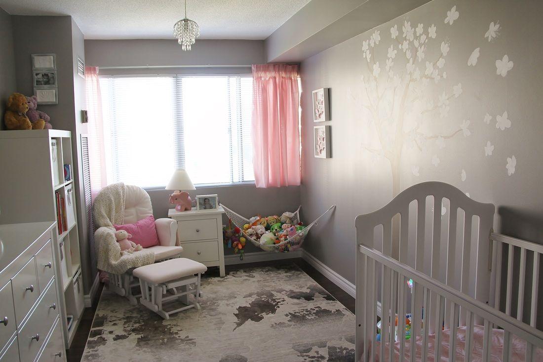 Pink and gray nursery love this color combination nurseryidea