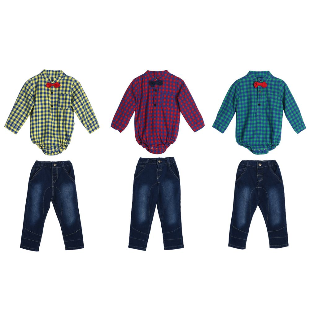 Flannel shirt for baby boy  Click to Buy ucuc Baby Clothes Gentleman Baby Boy Bowknot Plaid