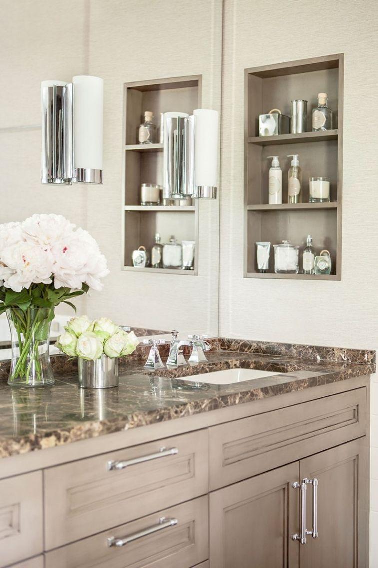 Open shelves next to sink | Banheiros | Pinterest | Open shelves ...
