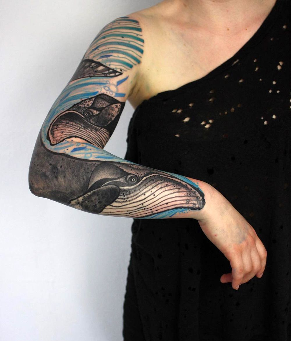 Vibrant Tattoos By Peter Aurisch Channel Elements Of Cubism And - Polish artist creates elegant animal tattoos finished in vibrant colours