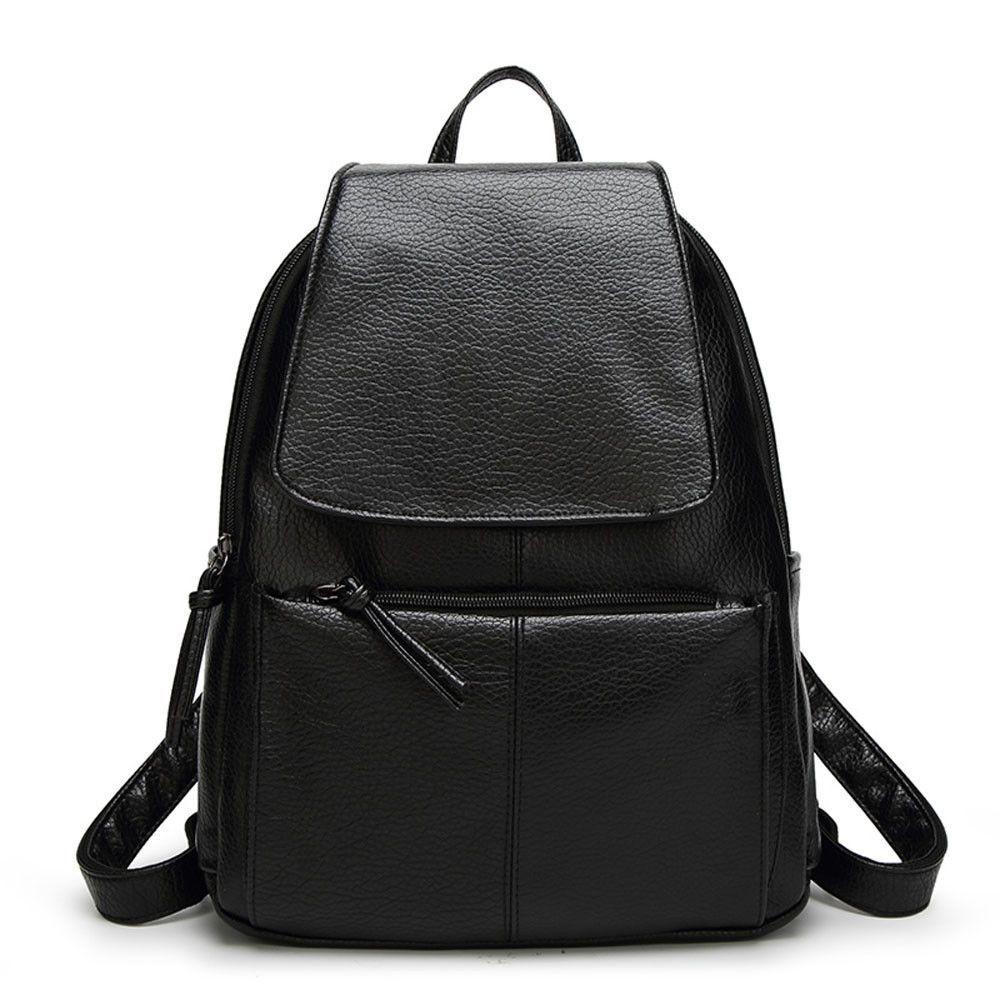 c73d0848ce Mochila Backpack Youth School Bag Leather Backpacks for teenage girls  Rucksack Fashion Women Small Back Pack feminine