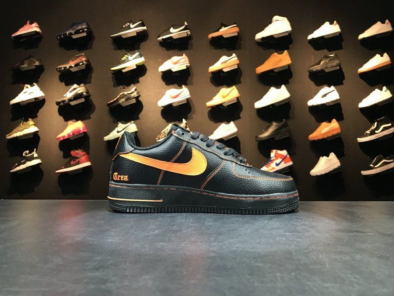 ae702b5e9 Nike Air Force 1 Low Vlone Black Orange 815771 991 | Buy cheap shoes ...
