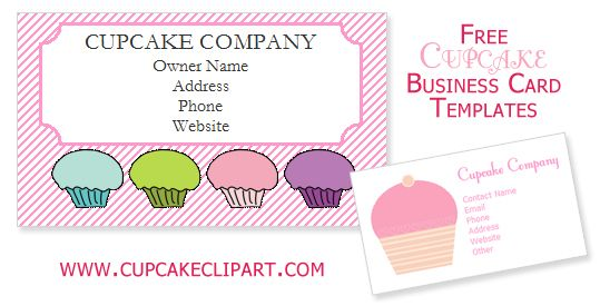 Free cupcake business card templates cupcake clipart recipes to free cupcake business card templates cupcake clipart reheart