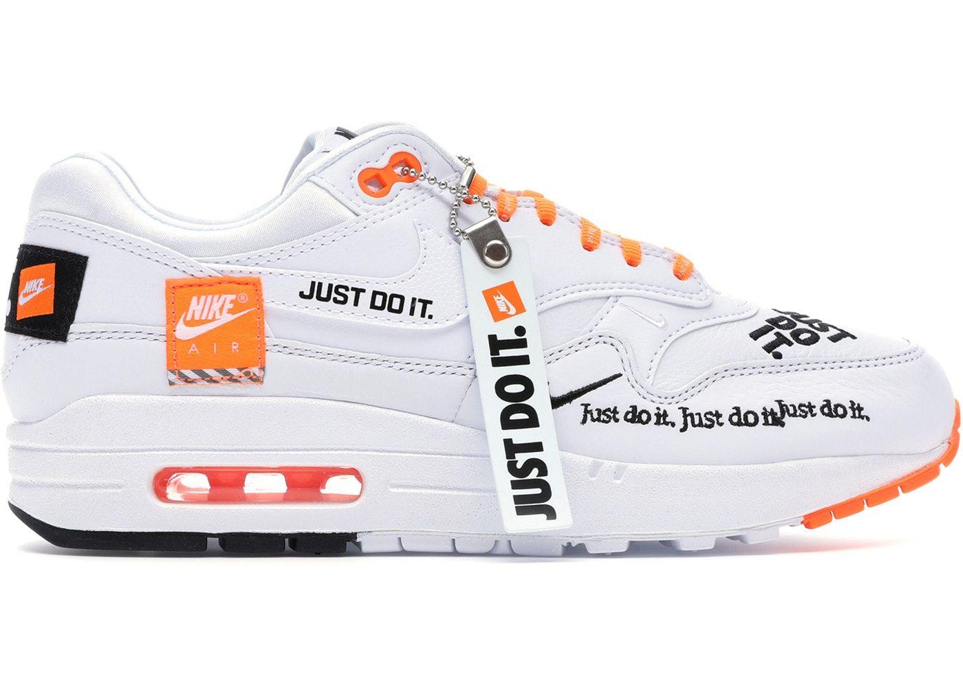 Nike Air Max 1 Just Do It White W In 2020 Air Max 1 Nike Air Max Plus Nike Air