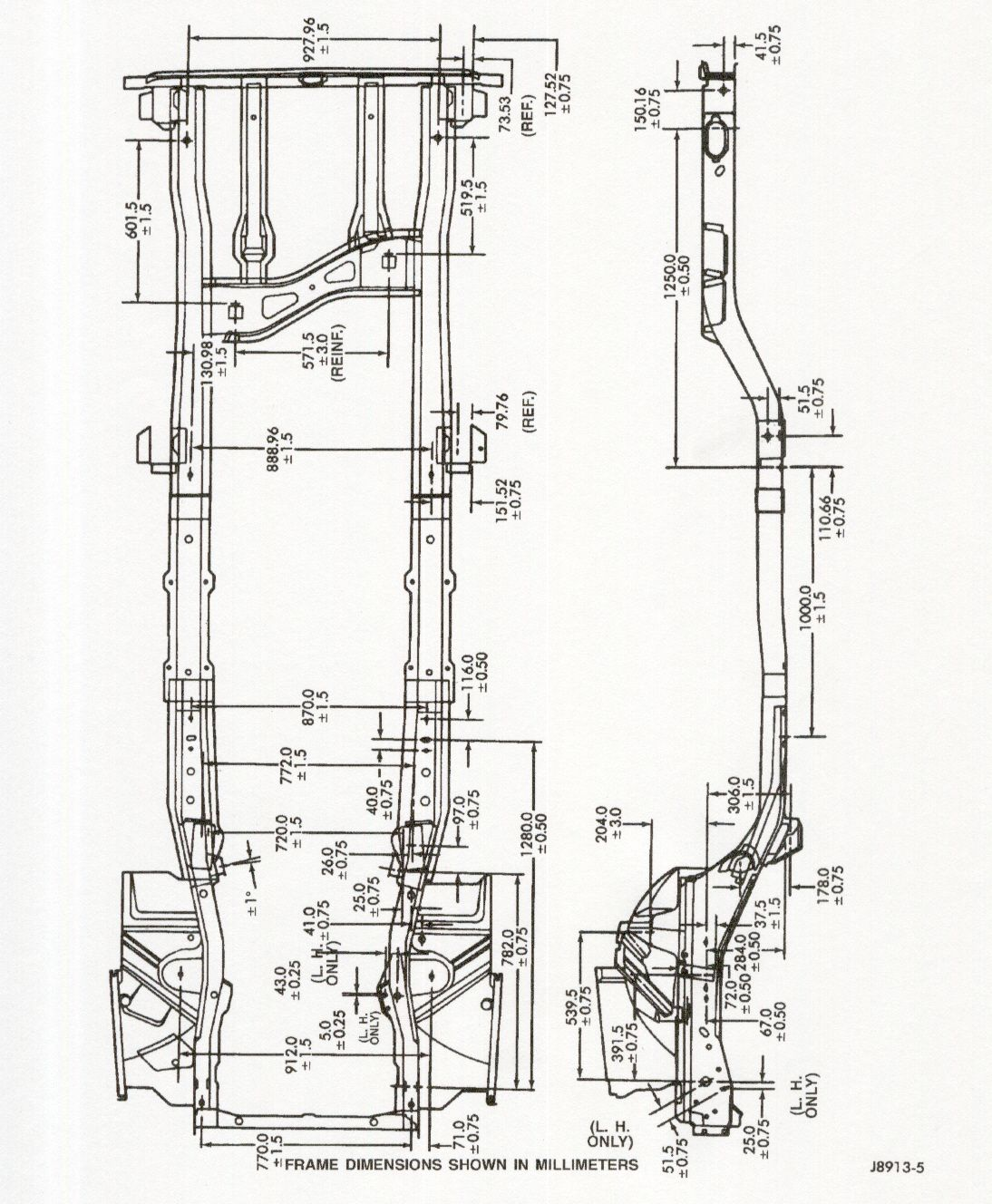 xj frame drawing
