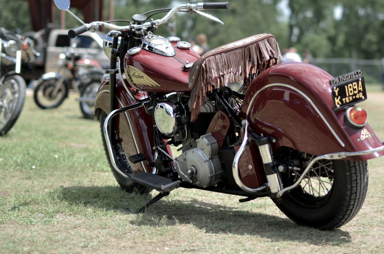 1948 Indian Chief with 1948 Texas Motorcycle license plate. Too Cool ...