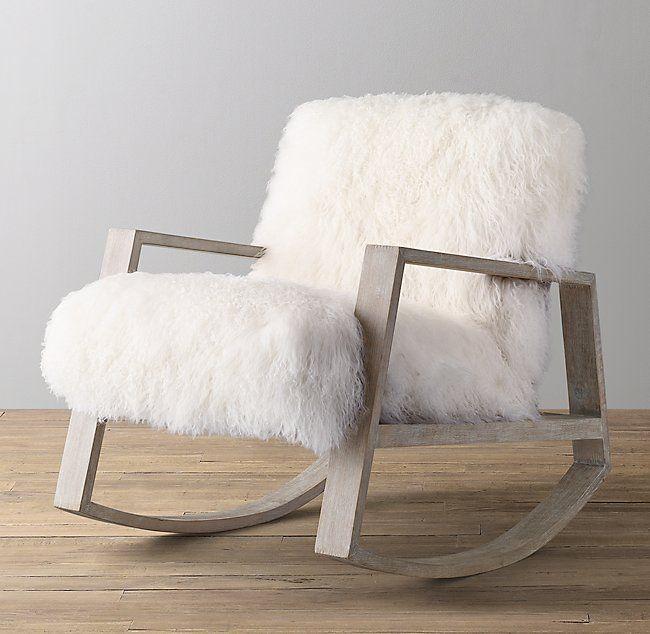 Brilliant Hyde Mongolian Lamb Rocker In 2019 Dream Home Bedroom Inzonedesignstudio Interior Chair Design Inzonedesignstudiocom
