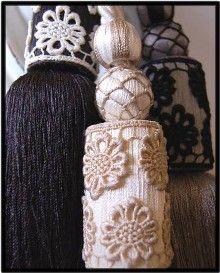 Curtain Tiebacks Tassel Beaded Feather Rope Tie Backs Product