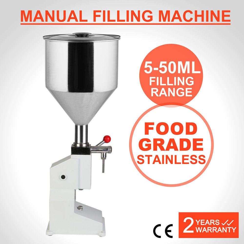 Liquid Filling Machine Manual Bottling Bottle Filler Stainless Steel 5 50ml Bottling Bottles Lotion Bottle Filling