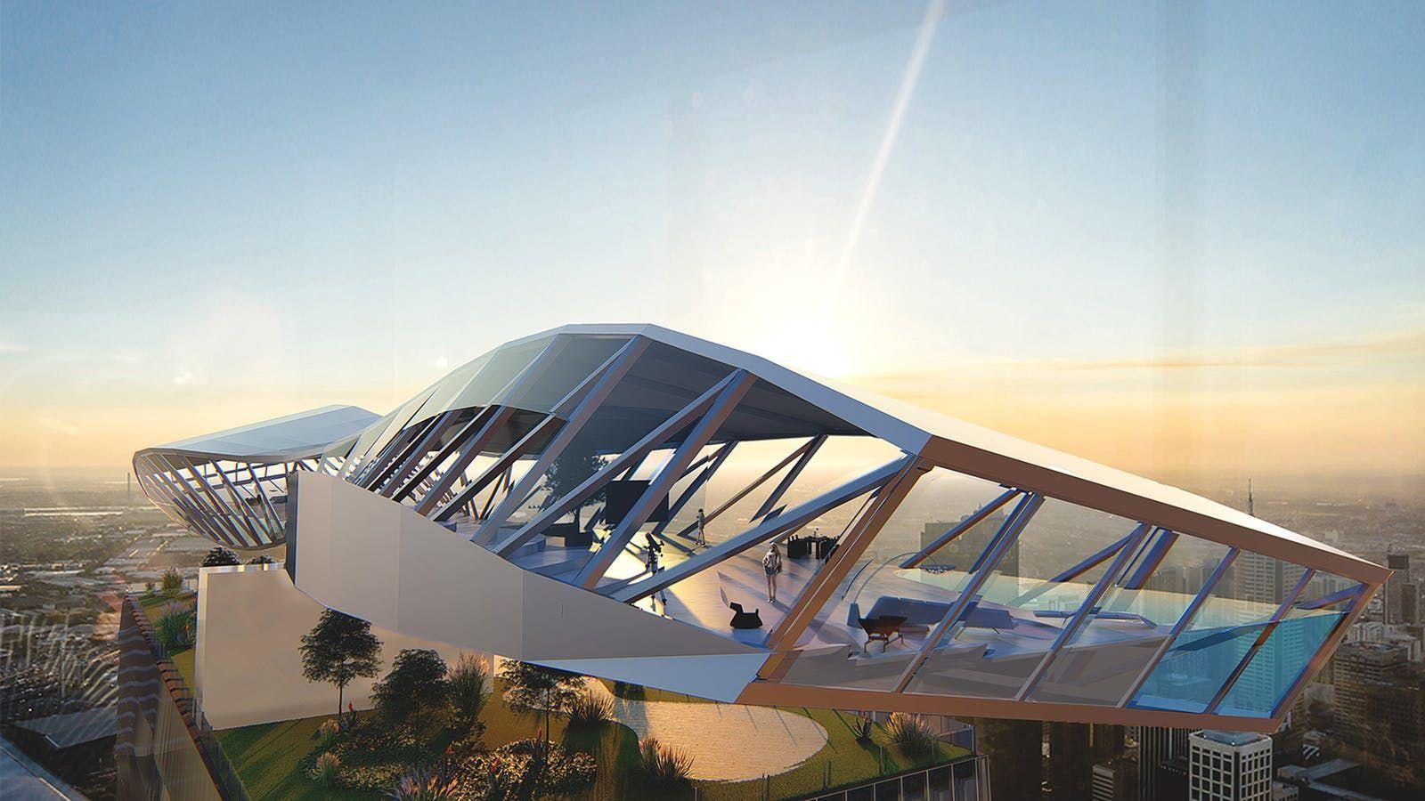 Coop Himmelb(l)au + Architectus design propellerpenthouse