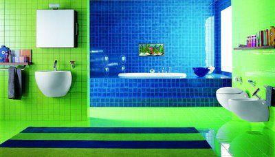 43 Bright And Colorful Bathroom Design Ideas Green Bathroom Decor Bathroom Colors Bathroom Design