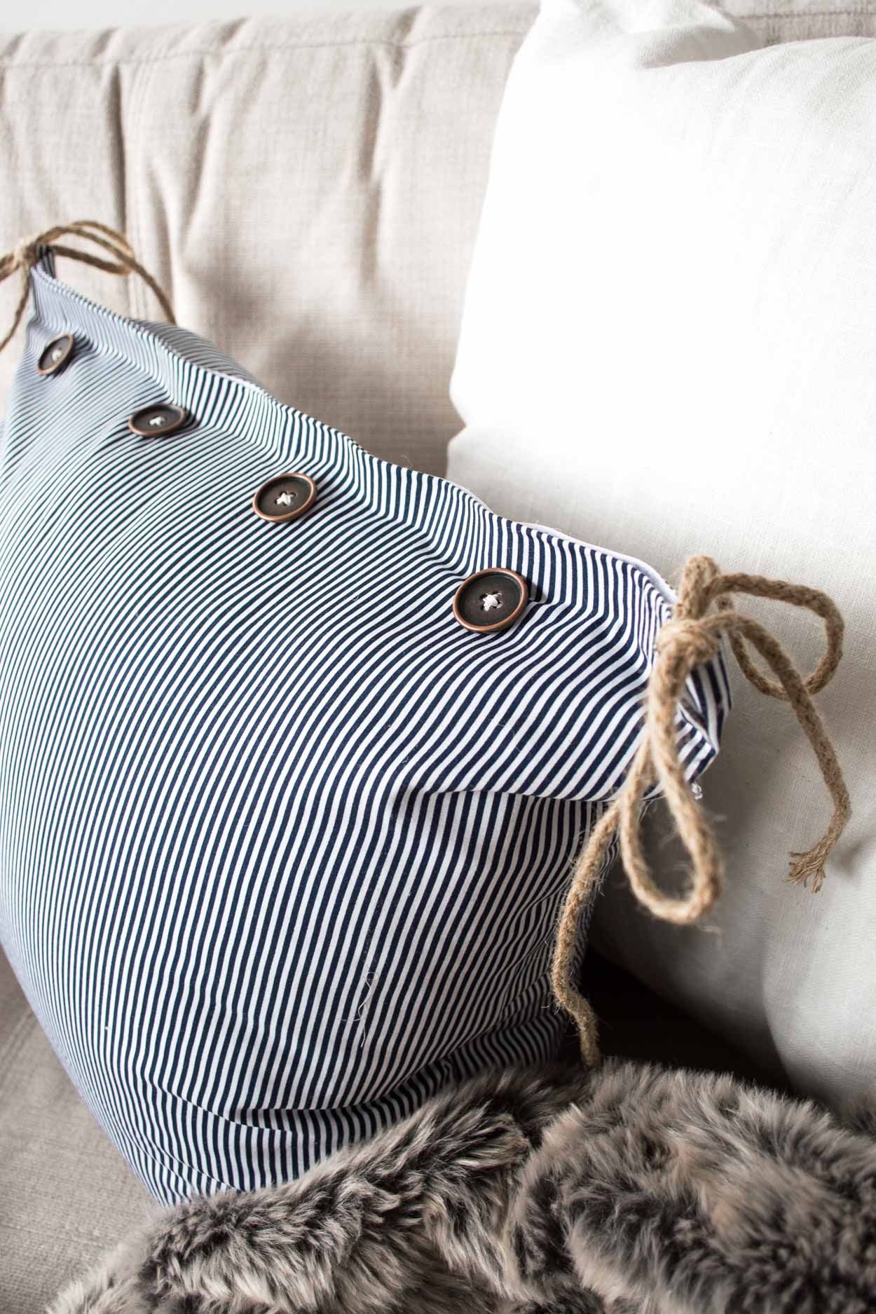 How To Make A Pretty No Sew Removable Cushion Cover Sewing