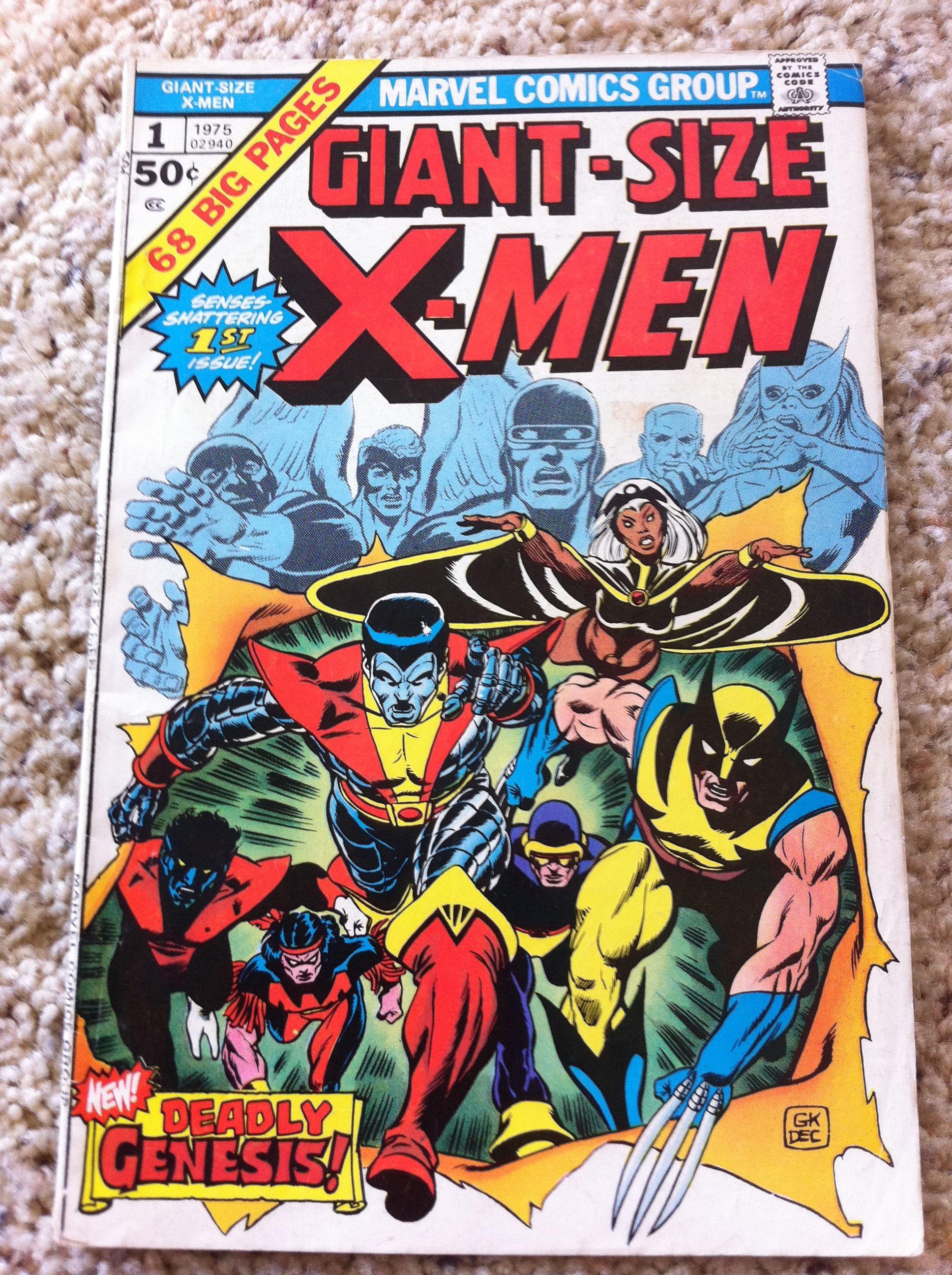 Giant Size X Men 1 Comic Covers Marvel Comic Books Comic Book Covers