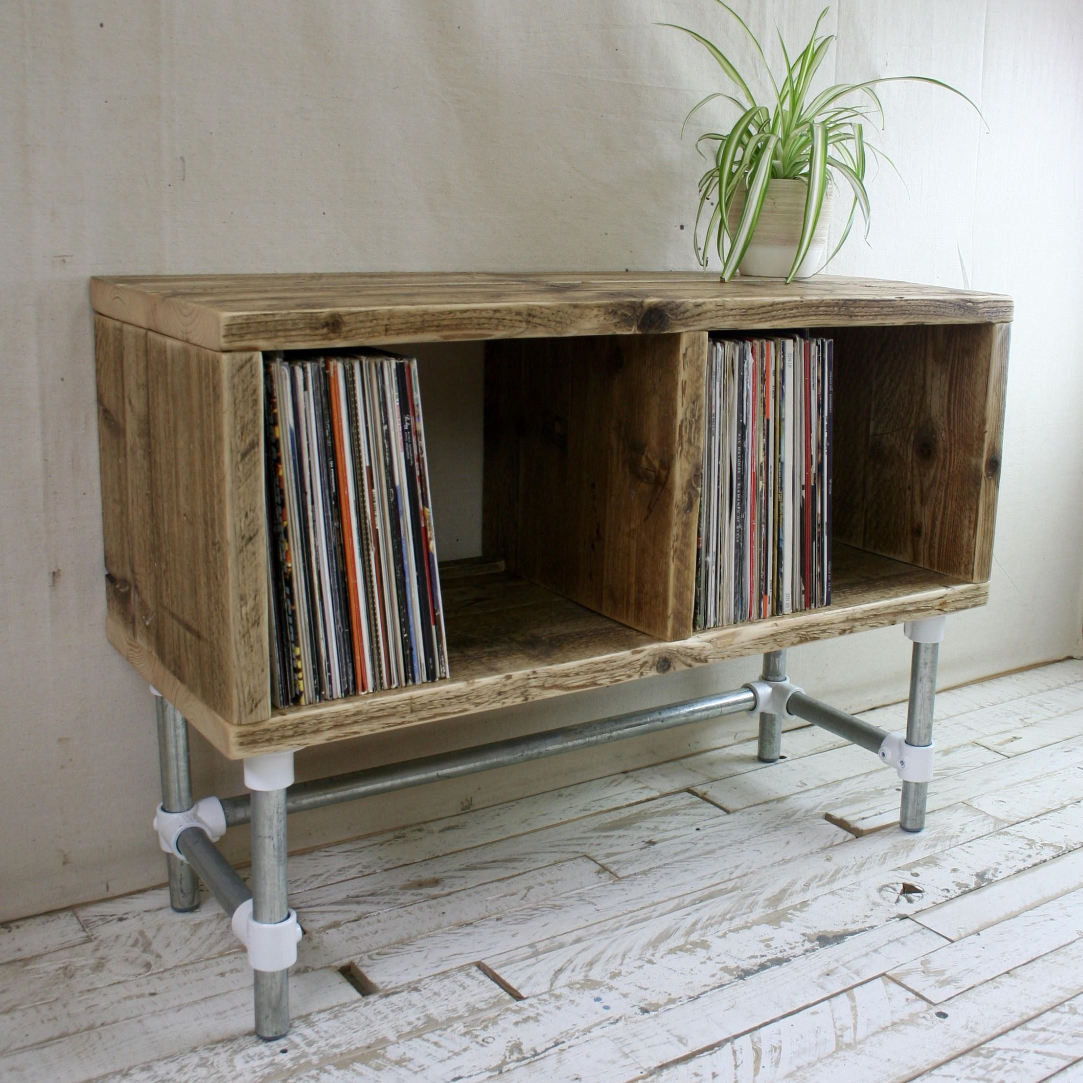 Reclaimed Wood Record Player Stand Dj Unit Tv Stand Etsy Record Player Stand Reclaimed Wood Picture Frames Record Player