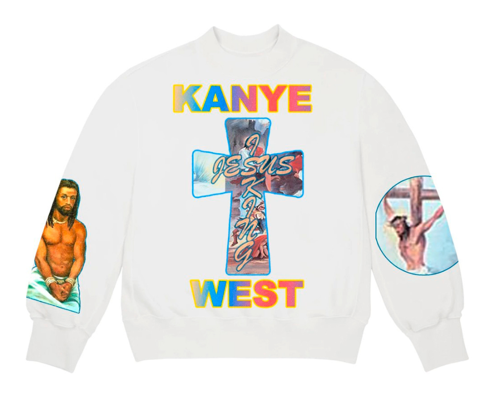 Kanye West S Jesus Is King Album Art Movie Poster And Merchandise Fonts In Use Kanye West Shirt Kanye West Kanye