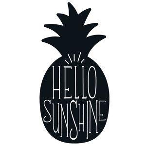 Silhouette Design Store - View Design #192802: hello sunshine pineapple