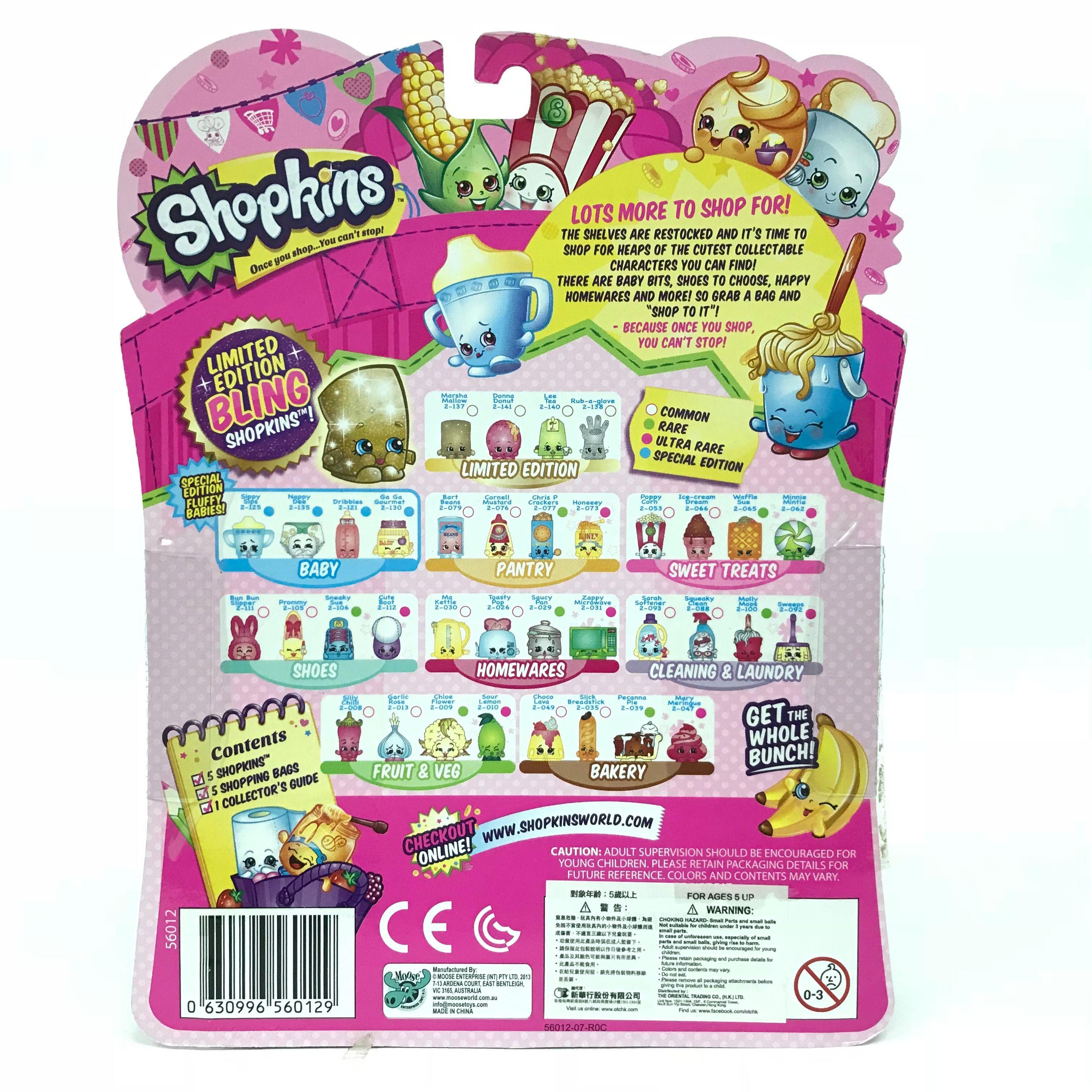 Shopkins-Season-2-Collectibles-Pack-of-5-Bags-Characters-Set thumbnail 4