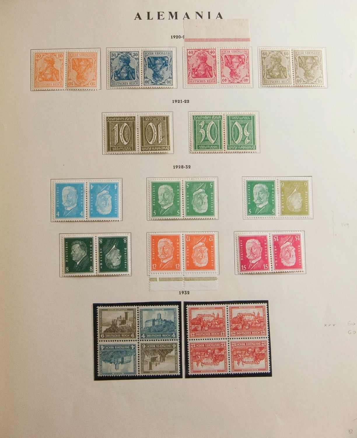 Collections And Lots Germany Spectacular Collection Of Combinations Tete Beche And Booklet Plates Of Ger Briefmarken Deutschland Seltene Briefmarken Luftpost