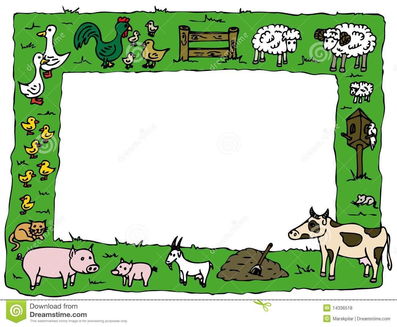 Farm Animal Border Clipart
