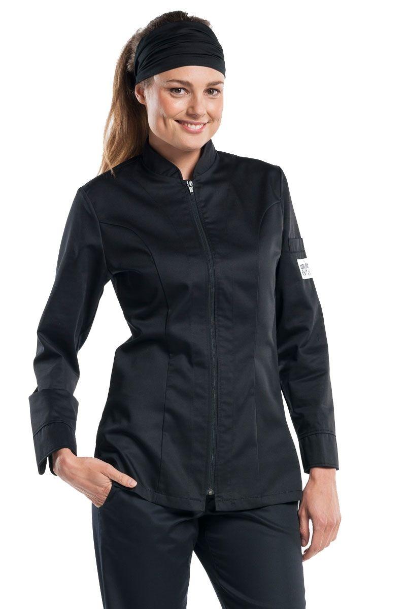 La chaqueta Chaud Devant Monza color negra y de manga larga
