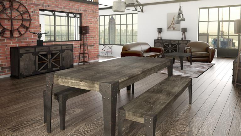 Composez votre salle à manger vintage Chicago House - table salle a manger loft
