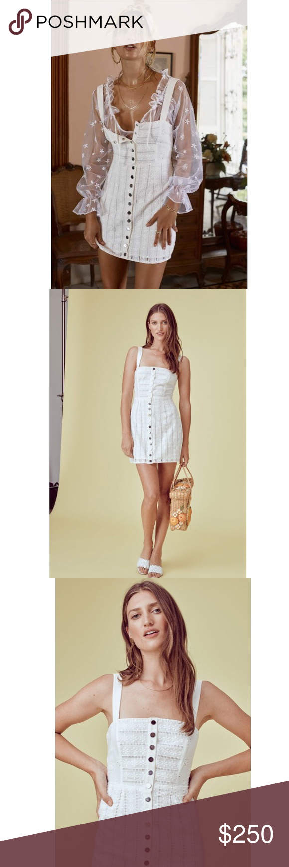 abcc636daa86 Hermosa Eyelet Snap Dress NWT