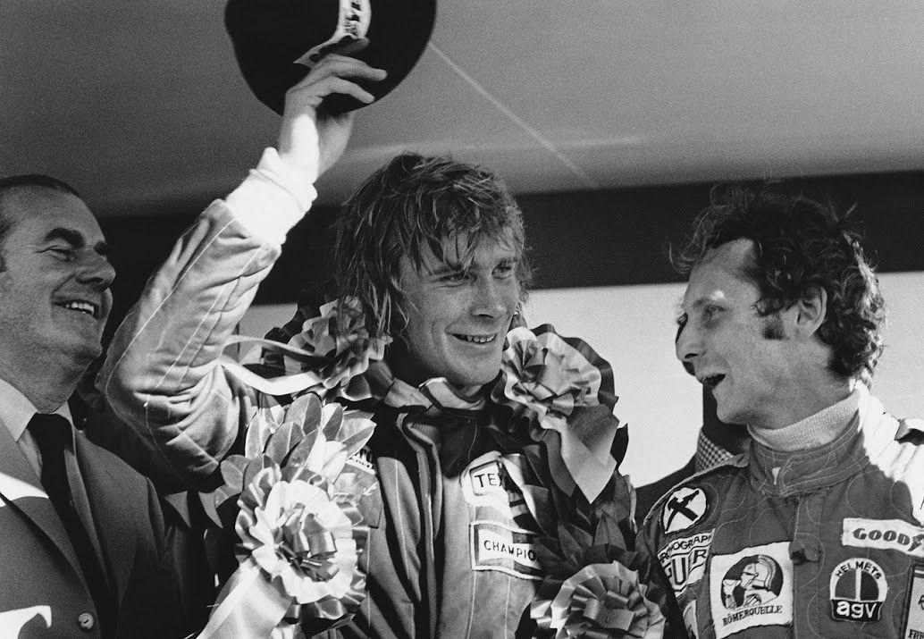 James Hunt winning the British Grand Prix in 1976