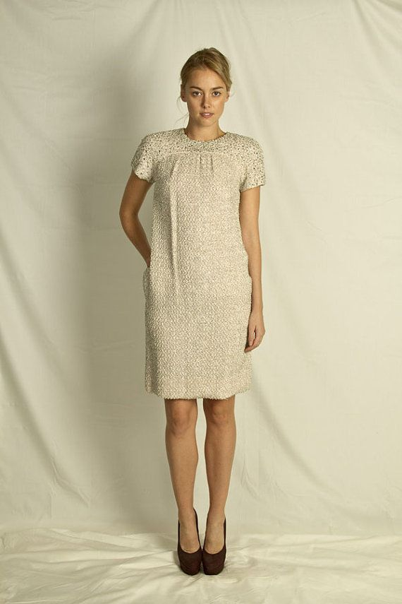 1960/'s Shift Dress with sequin band Miss Bergdorf New York