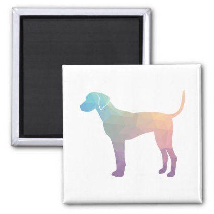 Plott Hound Geometric Pattern Silhouette Pastel Magnet | Zazzle.com
