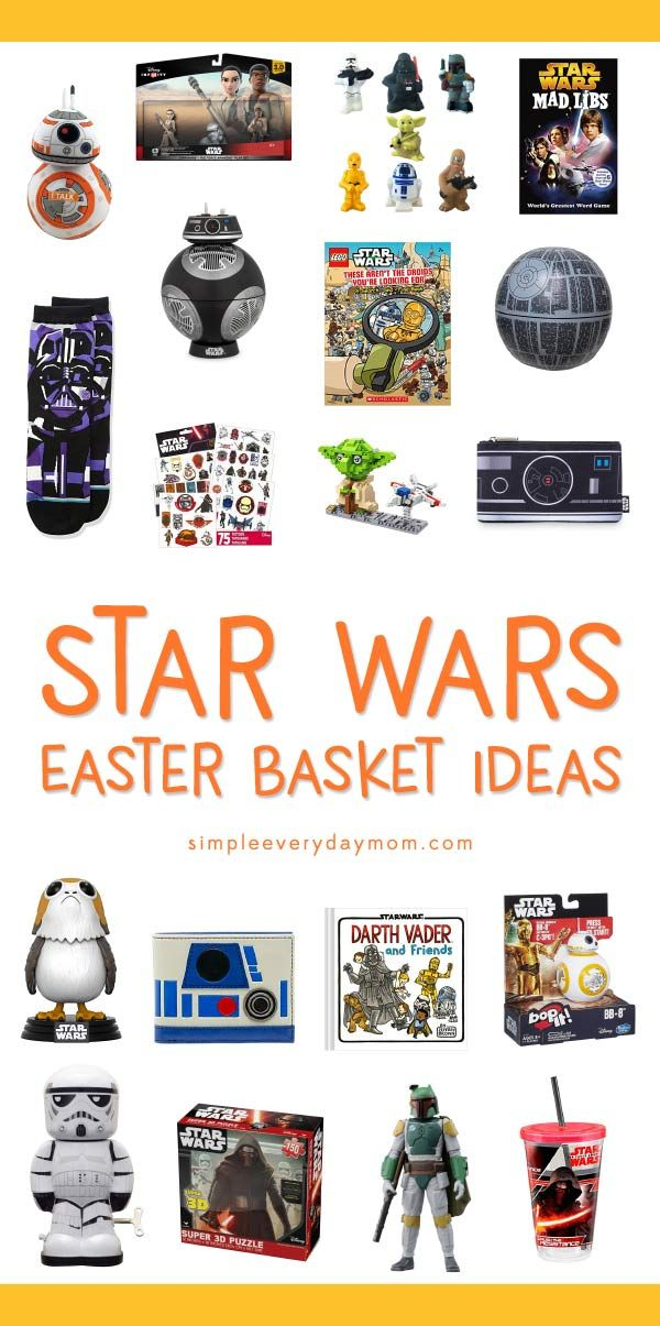 Create an awesome star wars easter basket for boys or girls create an awesome star wars easter basket for boys or girls with these negle Gallery