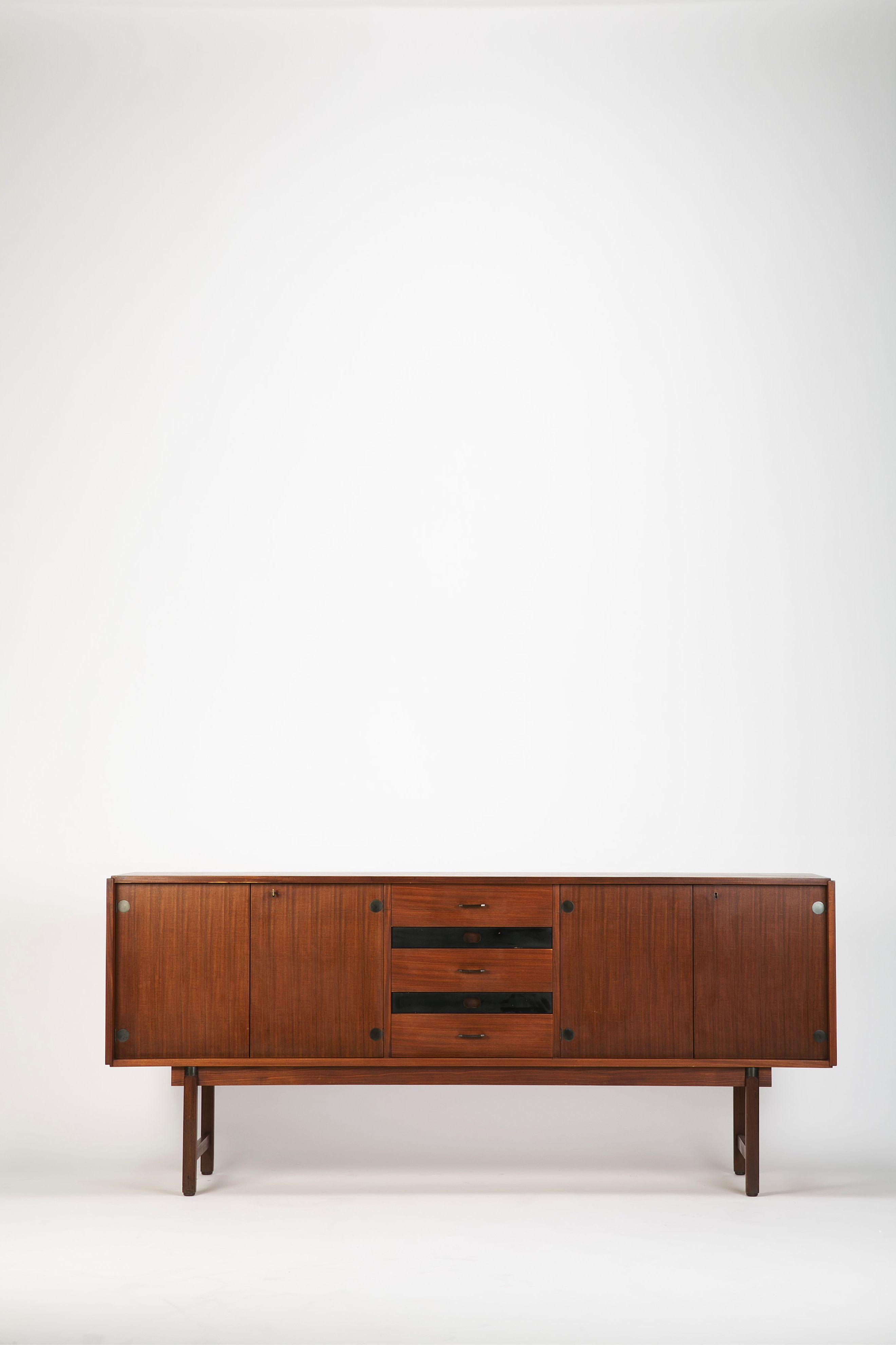 Italian Sideboard Barovero Torino Mahogany 60 Okay Art Mid Century Furniture Mahogany Sideboard