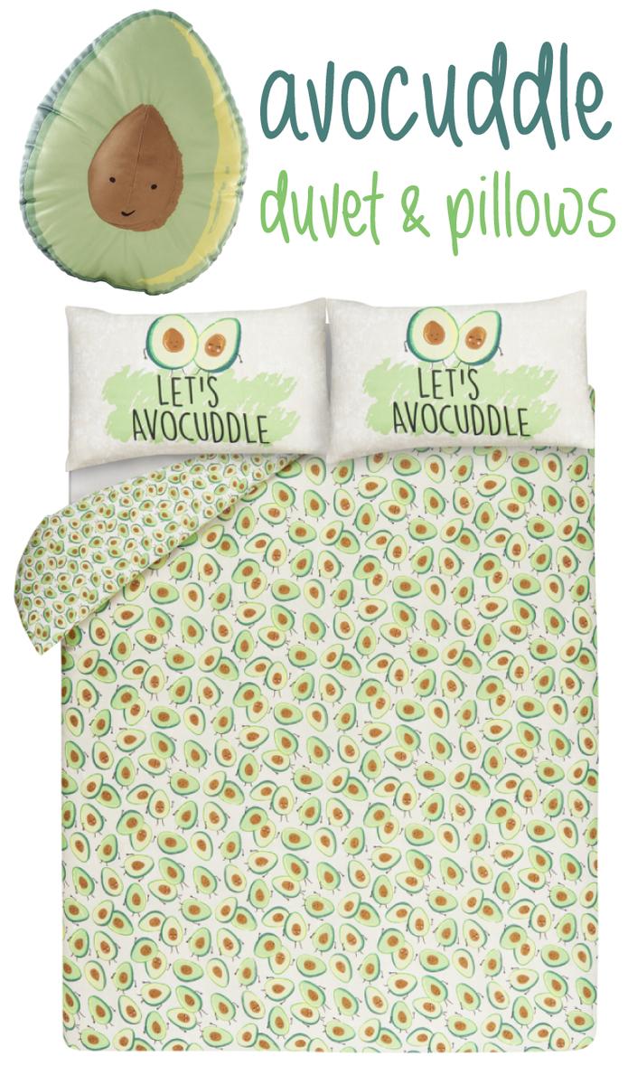Let\'s Avocuddle\' Avocado Print Reversible Duvet Set From £10 @ Asda ...