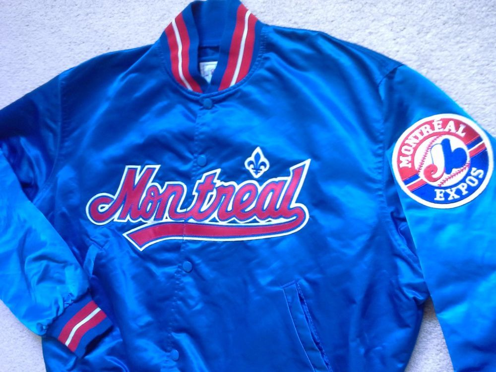 VTG RARE Montreal Expos Starter satin jacket coat jersey varsity hat  authentic L  Starter  MontrealExpos 65922bcee