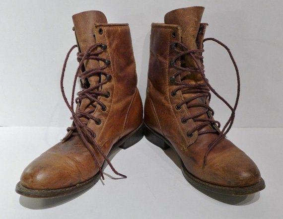 Durango Boots Vintage Lace Up Women\u0026#39