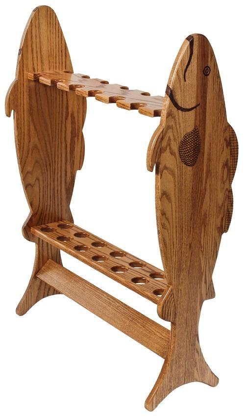 folding chair fishing pole holder tiny electric amish hardwood large rod rack items pinterest