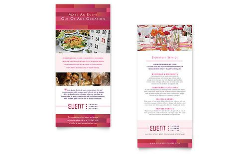 Corporate Event Planner Caterer Rack Card Template Design Event Planning Brochure Corporate Event Planner Event Planning Quotes
