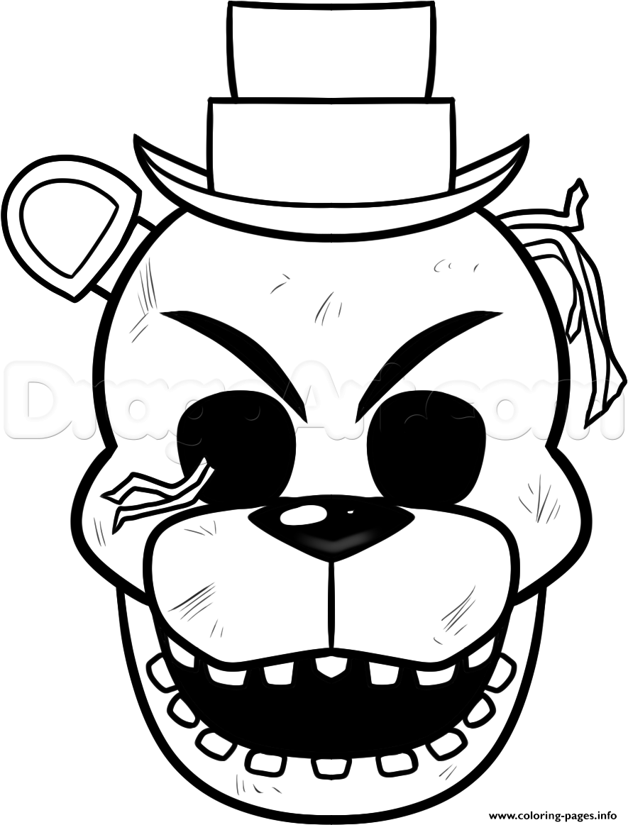 Coloring pictures five nights at freddys 2 cartoon coloring pages - Print Not Happy Five Nights At Freddy Fnaf Coloring Pages