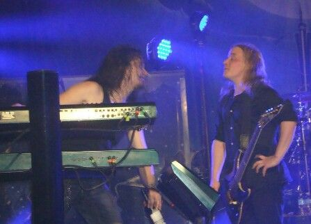 "Look how Tuomas is grabbing his bottle and Emppu is just like "" Would you like to give me some, gourgeus?"" XD"