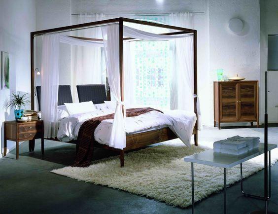 Ich muss zugeben ich liebe Himmelbetten Sie verleihen einem - schlafzimmer romantisch modern