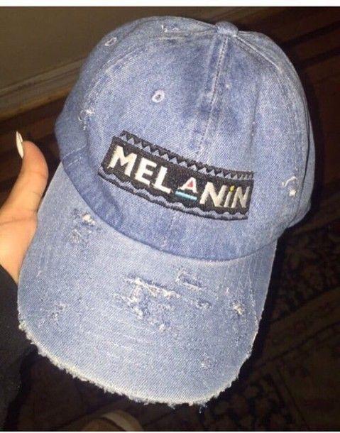 hat melanin denim cap cap  63c40779ca39