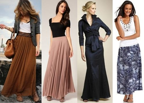 what top to wear with long chiffon skirt | projects that are ...