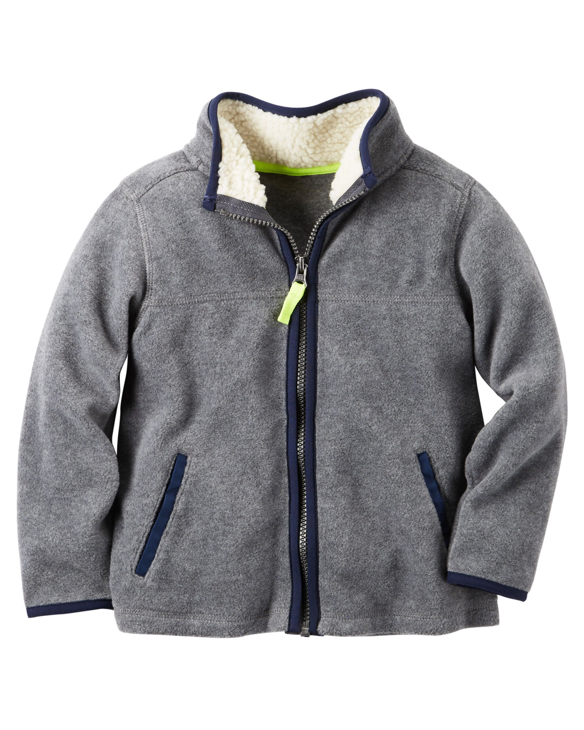 820d77827e86 Baby Boy Fleece Zip-Up Jacket