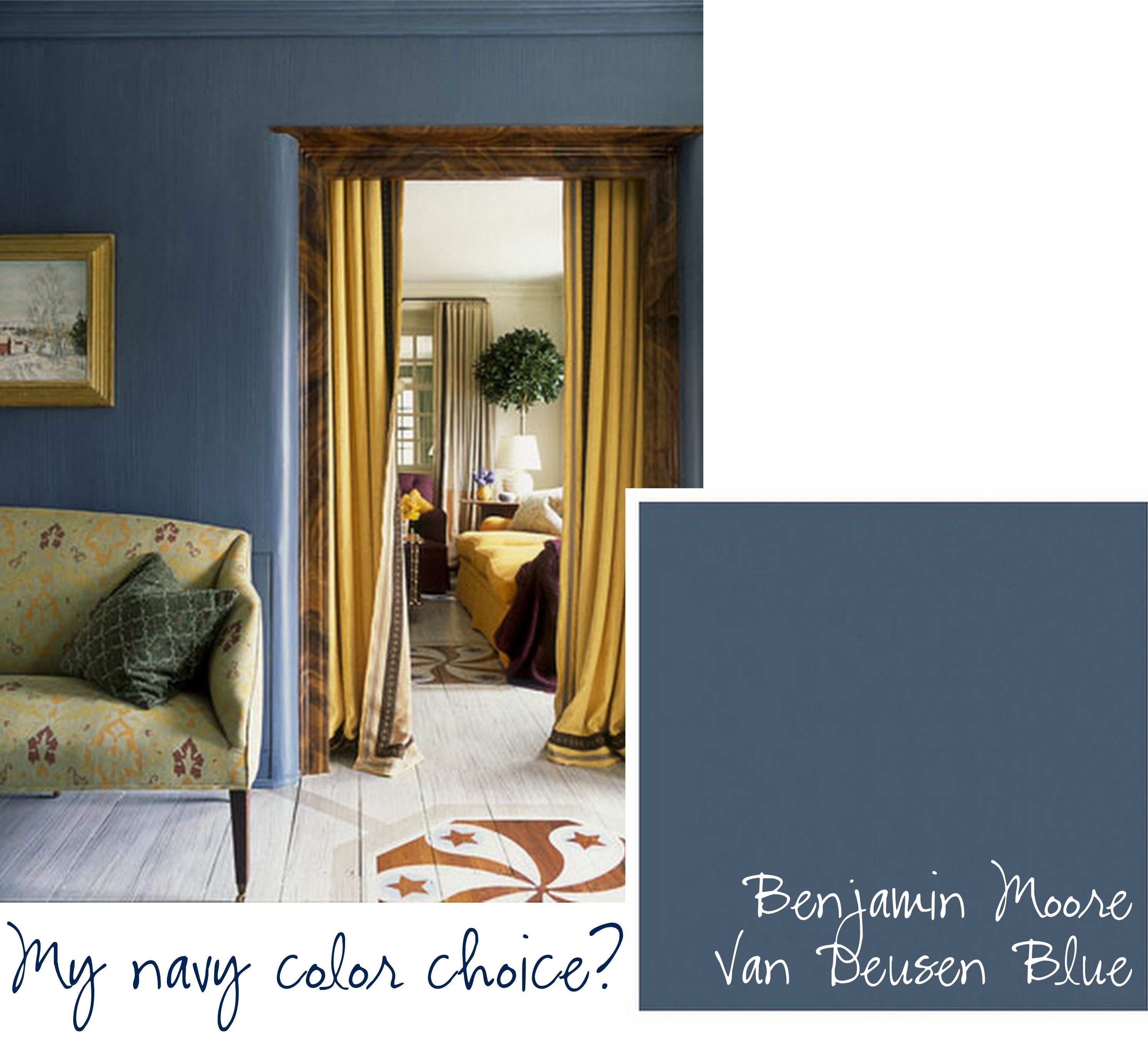 Royal Blue Revelation Benjamin Moore Van Deusen
