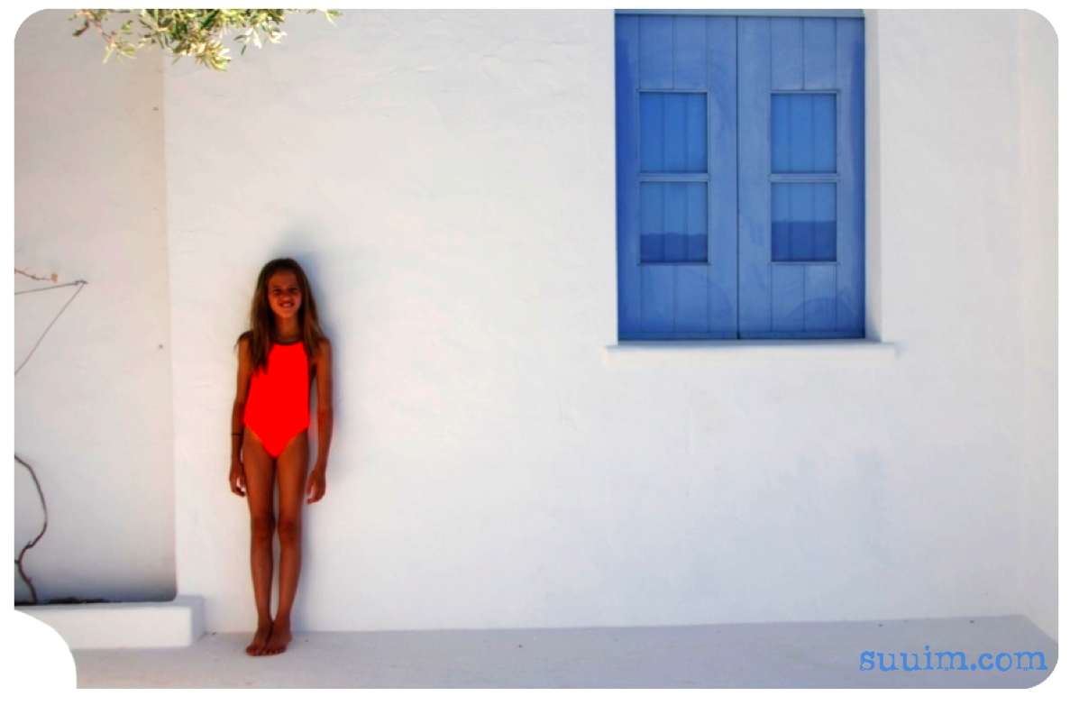 Bali swimsuit - neon orange collection at suuim.com
