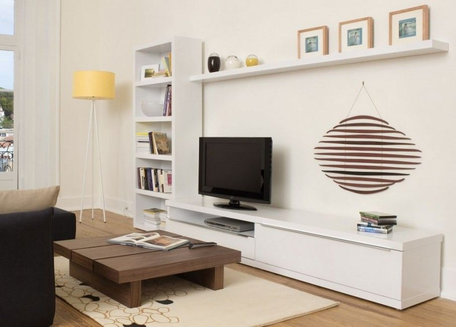 coffee table futuristic tv unit design supplied with hidden lights and bookcase innovative tv unit - Corner Wall Unit Designs