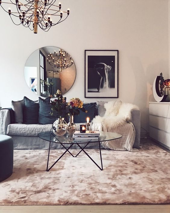 Modern Scandinavian Living Room With Pink Carpet Living Room Scandinavian Modern Scandinavian Living Room Living Room Carpet
