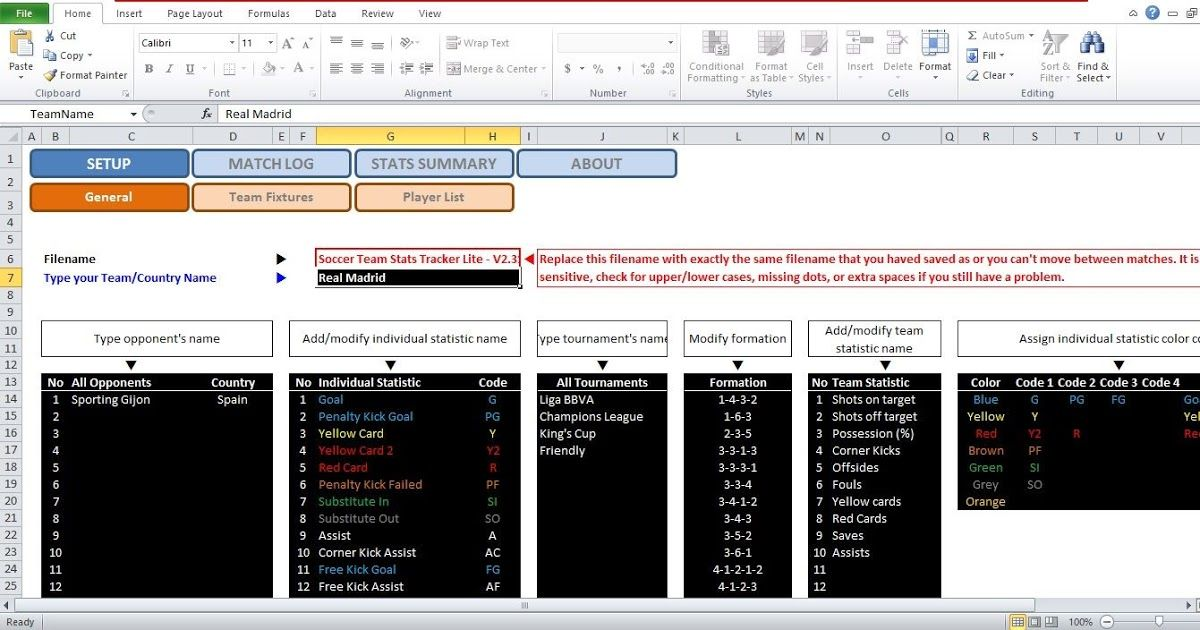 Soccer Stats Excel Spreadsheet Template Soccer Stats Planners And Trackers Office Com How To Build An A In 2020 Excel Spreadsheets Templates Excel Excel Spreadsheets