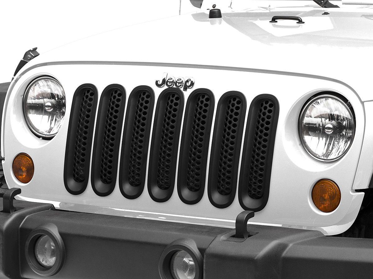 Redrock 4x4 Jeep Wrangler Mesh Grille Inserts Matte Black J106935 07 18 Jeep Wrangler Jk Jeep Wrangler Jeep Wrangler Jk Jeep